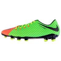 Nike Hypervenom III 3 Phelon FG Mens Football Boots (Green-Orange)