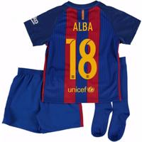 2016-17 Barcelona Home Mini Kit Shirt (Alba 18)