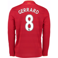 2016-17 Liverpool Home Long Sleeve Shirt (Gerrard 8)