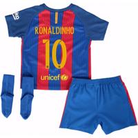 2016-17 Barcelona Home Baby Kit (Ronaldinho 10)