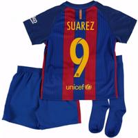 2016-17 Barcelona Home Mini Kit Shirt (Suarez 9)