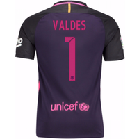 2016-17 Barcelona Away Shirt (Valdes 1)
