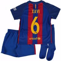 2016-17 Barcelona Home Mini Kit Shirt (Xavi 6)