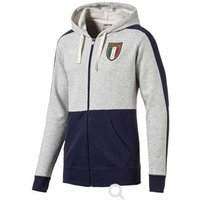 2017-2018 Italy Puma Azzurri Zipthrough Hoody (Grey) - Kids