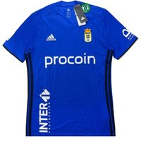 2016-17 Real Oviedo Adidas Home Football Shirt