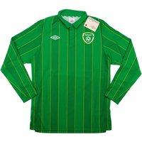 2011-12 Ireland Umbro Home Authentic Long Sleeve Football Shirt