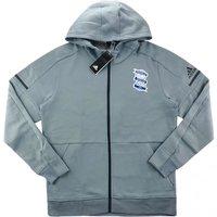 2017-18 Biringham City Adidas Anthem Squad Hooded Jacket (Grey