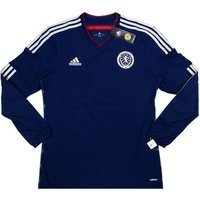 Scotland 2014-15 Authentic Home Long Sleeve Football Shirt