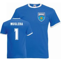 Fernando Muslera Uruguay Ringer Tee (blue)