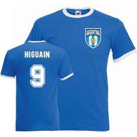 Gonzalo Higuain Argentina Ringer Tee (blue)