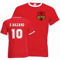 Eden Hazard Belgium Ringer Tee (red)