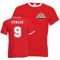 Robbie Fowler Liverpool Ringer Tee (red)