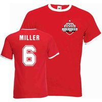Willie Miller Aberdeen Ringer Tee (red)