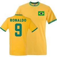 Ronaldo Brazil Ringer Tee (yellow)