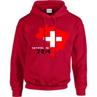 Switzerland 2014 Country Flag Hoody (red) - Kids