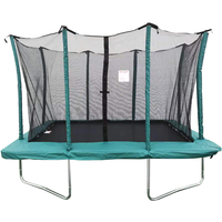 Velocity 6x9ft Green Rectangular Trampoline With Safety Enclosure