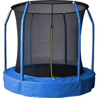 Air League 12ft In Ground Sunken Trampoline With Safety Enclosure Blue