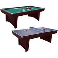 Walker and Simpson Pool & Table Tennis Combo Table in Mahogany