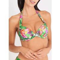 Aubade Fleur Tropicale Moulded Push Up Bikini Top