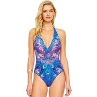 Click to view product details and reviews for Gottex Dream Catcher V Neck Halter Swimsuit.