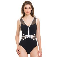 Click to view product details and reviews for Gottex Profile Grand Prix Monochrome Zip Swimsuit.