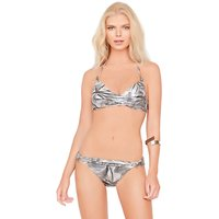 Click to view product details and reviews for Gottex Jewel Box Silver Agate Triangle Push Up Bikini.