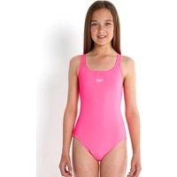 Speedo Girls Essential Medalist Flo Pink Swimsuit