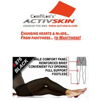 Activskin Thermofabric Opaque Full Support With Fly Footless Tights (A876)