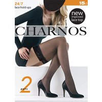 Charnos 24/7 New Lace Sheer Hold Ups 2 Pair Pack