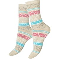Charnos Autumn Fairisle Pattern Socks