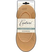 Couture Comfort Sole Footlets 3 Pair Pack