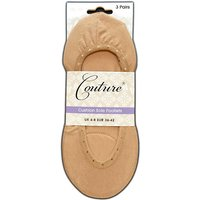 Couture Cushion Sole Footlets 3 Pair Pack