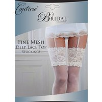 Couture Fine Mesh Bridal Deep Lace Top Stockings