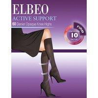 Elbeo Active Firm Support 60 Denier Opaque Knee Highs