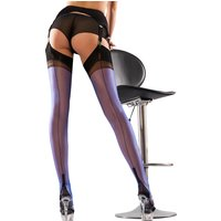 Gio Fully Fashioned Full Contrast Cuban Heel Stockings