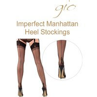 Gio Imperfect Fully Fashioned Manhattan Heel Stockings