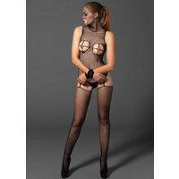 Leg Avenue KINK Fishnet Bodystocking With O-Ring Cups And Wrist Restraints