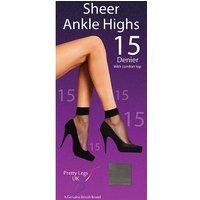 Pretty Legs 15 Denier Ankle Highs 4 Pair Pack