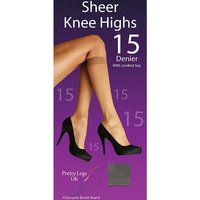 Pretty Legs 15 Denier Knee Highs 4 Pair Pack