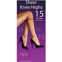 Pretty Legs 15 Denier Knee Highs 2 Pair Pack