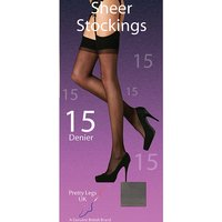 Pretty Legs 15 Denier Stockings 2 Pair Pack