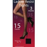 Pretty Legs Ladder Resist Tights 3 Pair Pack