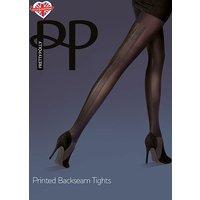 Pretty Polly Fashion Printed Backseam Tights