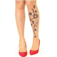 Stop And Stare Black Roses Tights
