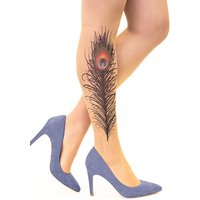 Stop And Stare Peacock Feather Tights