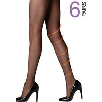 UK Tights Super Saver 15 Denier Light Support Tights 6 Pair Pack
