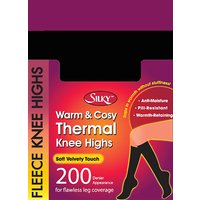 Silky 200 Denier Fleece Knee Highs