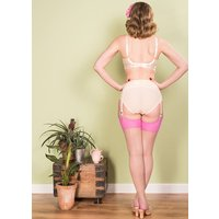 What Katie Did Glamour Contrast Seamed Stockings Champagne Pink