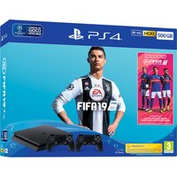 Sony PlayStation 4 500GB chassis F + FIFA 19 + secondo DualShock 4