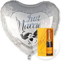 Riesenballon Just Married und Champagner Veuve Clicquot